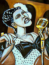 BILLIE HOLIDAY PRINT poster jazz lady day american songbook cd microphone