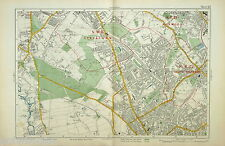 Original Map - BACON'S LONDON & SUBURBS, 1926 - NORBURY, THORNTON HEATH, MITCHAM