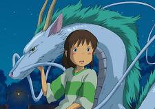 SPIRITED AWAY - Laminated A3 Poster - Studio Ghibli - Chihiro - Anime - Manga