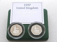 1997 Royal Mint Britannia 50p Fifty Pence Silver Proof 2 Coin Box Coa