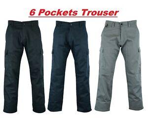 NW 6 Pockets Trouser Workwear Pant Cargo Outdoor Carpenter Builder Cargo Combat