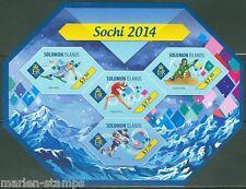 SOLOMON ISLANDS 2014 SOCHI WINTER OLYMPICS SKATING SKIING HOCKEY SHT IMPF  NH