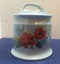 Pioneer Woman Garlic Keeper Ceramic Stoneware Crock Spring Bouquet