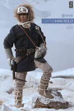 """SIDESHOW STAR WARS CAPTAIN HAN SOLO HOTH BLUE JACKET EXCLUSIVE 12"""" 1/6 ACTION"""