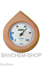 Higrómetro de sauna Humedad la Medición con Marco madera