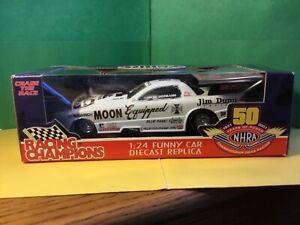 NEW RACING CHAMP. JIM DUNN MOONEYES FUNNY CAR 50TH ANNIVERSARY NHRA 1:24 Diecast