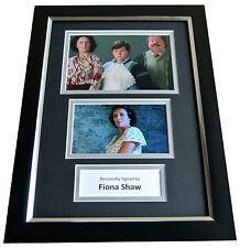 Fiona Shaw Signed A4 FRAMED Photo Autograph Display Harry Potter Dursley & COA