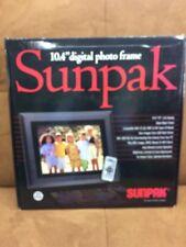 Sunpak 10.4 Digital Photo Frame TFT Black Frame Play Movies Music With Remote