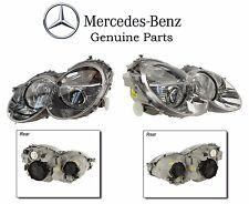 Pair Left & Right Genuine OEM NEW Headlights Mercedes Benz SL500 SL600 SL55 SL65
