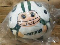 "Very Large 36"" Circ Ty Beanie Ballz Plush NEW YORK JETS Football Mascot NEW"