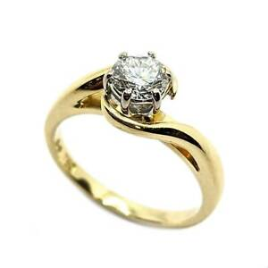 50% OFF SALE Solitaire Diamond 18ct Gold Ring