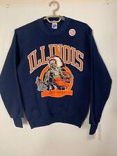 Vintage Illinois Fighting Illini Sports NCAA Crewneck Sweatshirt Small USA 90s