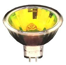 LAMPE DICHROIQUE HALOGENE MR16, CULOT GU5.3, 12V, 50W, 20° JAUNE, ø50