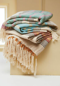 Malabar Throw With Tassels | Cosy sofa throw | Ethical blanket