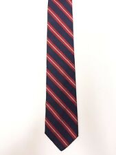 Jos A Bank Mens Neck Tie Red Blue Striped