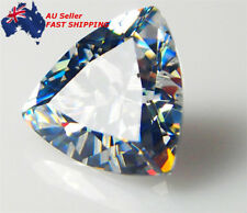 Unheated 10.28Ct 12*12mm Trillion Cut White Sapphire AAAA+ Loose Gemstone Gift