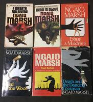 Lot Of 6 NGAIO MARSH Paperbacks Hand In Glove Enter A Murderer Final Curtain...
