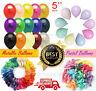 "5"" Inch pearl Balloons metallic pastel baloon Birthday anniversary baby shower"