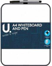 MagneticA4 Dry Wipe Mini Office Whiteboard Notice Memo White Board Pen & Eraser