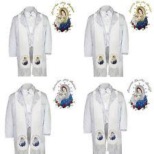 6pc Baptism Christening Paisley White Tuxedo Pope Virgin Mary Stole