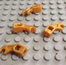 LEGO / Lot Of 4 Droid Parts / Bad Robot Arm / GOLD / 4X Pieces