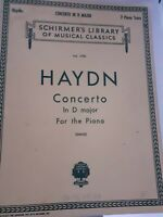 Partituras SCHIRMER'S Library Of Musical 1945 VOL.1700 Haydn Concerto Piano