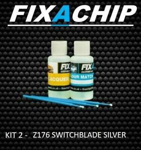 VAUXHALL CAR TOUCH UP PAINT - CODE Z176 - SWITCHBLADE SILVER (KIT 2)