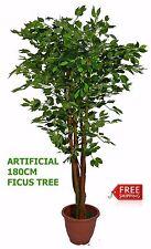 Artificial Plant Home Flower Decoration Green Ficus Silk Tree 180cm Office Decor