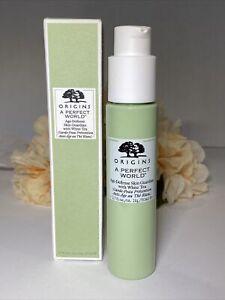 ORIGINS A Perfect World Age Defense Skin Guardian with White Tea 1.7oz NIB Free