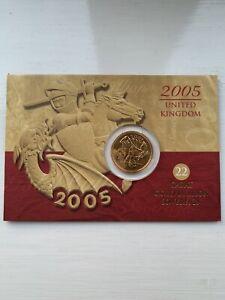 2005 22 Carat Gold Full Sovereign