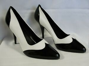 Darling And Classy Pleaser Black & White Wing Tip Heels, Size 15, NEW