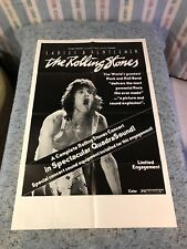 Ladies and Gentlemen The Rolling Stones 1973 Original 1 Sheet Movie Poster (VF)