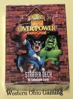 Marvel OverPower Monumental Starter Deck NEW Over Power Card Game