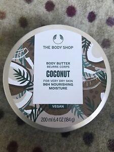 Body Shop Coconut Body Butter 96 Hour Nourishing Moisture 200ml Vegan Brand New