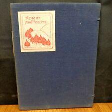KORIN BY YONE NOGUCHI 1922 Limited Edition