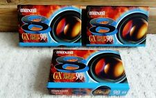 3 x Maxell P5-90 GX Metal Camcorder Tape 90 min. Made in Japan. *NEW*