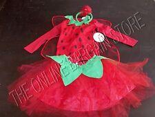 Pottery Barn Kids Halloween School Dress up Strawberry Fairy Tutu Costume 4-6