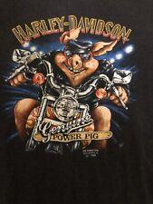 Vintage The Great American Hog Harley Davidson T-shirt 3D emblem Biker Modified!
