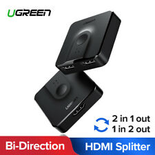 Ugreen 2 IN 1 OUT HDMI Switch Bi-Directional HDMI Splitter for PS4/3 TV Box