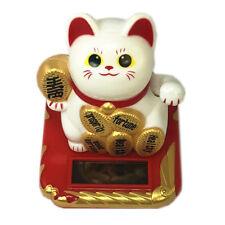 Solar Powered Waving Paw Welcome Fortune Cat Lucky Maneki Neko to Home Car Decor