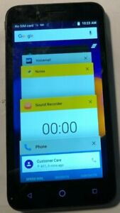 [BROKEN] ALCATEL ONETOUCH Conquest 8GB Black Fast Ship Good Used Sim Card Issue