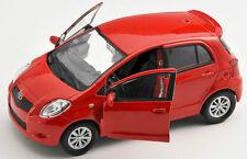 BLITZ VERSAND Toyota Yaris rot / red Welly Modell Auto 1:34 NEU & OVP