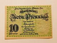 LÖBAU NOTGELD 10 PFENNIG 1918 NOTGELDSCHEIN (11176)