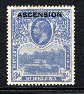 Ascension KGV 1922  3d. Bright Blue SG5 M/Mint