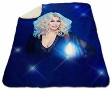 "Cher Winter Blanket 60"" x 80"" Queen Size NEW Fleece Warm Soft Cozy Christmas"