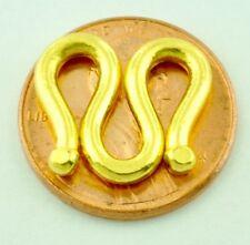 """9999 24K Yellow Gold """"  M """" lock clasp  handmade in USA 3.80 gram"""