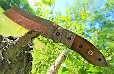 Damastmesser-Taschenmesser-Jagdmesser-Karambit-Klappmesser-Tanto-Holzgriff-(T27)
