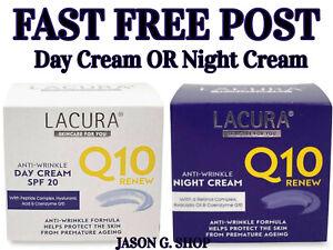 Lacura Q10 Renew Anti-Wrinkle Day Cream or Night Cream 50ml  - FAST DISPATCH