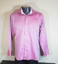 Ted Baker Endurance Classic Fit Men Long Sleeve Striped Pink Dress Shirt Size 16
