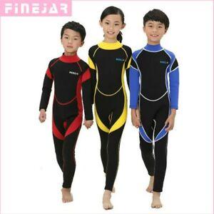 2.5MM Neoprene Wetsuits Kids Swimwears Diving Suits Long Sleeves Boys Girls Surf